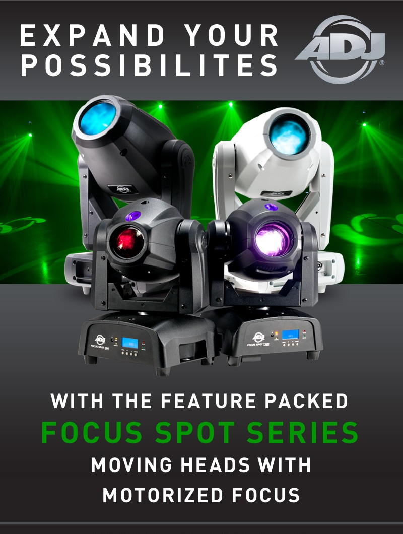 Brand New LED Moving Heads from ADJ